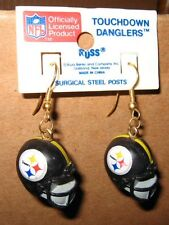 NFL PITTSBURGH STEELERS FOOTBALL EARRINGS SUPERBOWL AFC CHAMPIONS YELLOW BLACK