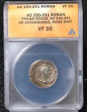 AD 250-251 ANACS VF35 Roman Trajan Decius Rome Mint NH596