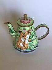 Charlotte Di Vita Enamel Miniature Collectors Rabbits Teapot Trade Plus Aid