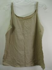 New York & Co Women's Size Large Beige Cami Camisole Tank Top Modest NWT