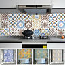 Mosaic Tile Wall Sticker Adhesive Decal Home Kitchen Bathroom Decor Waterproof