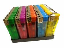 50 X Electronic Refillable Lighters Adjustable Flame Five Colours Gas Lighter