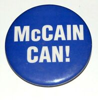 2008 JOHN MCCAIN campaign pin pinback button political presidential election