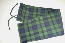club room mens sleepwear soft flannel lounge pants sz: xl color: green & blue