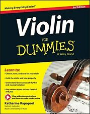 Violin For Dummies, Book + Online Video & Audio Instruction New Paperback Book K