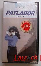 Yamato Series PATLABOR Vol. 3 VHS NUOVO SIGILATO celophanato