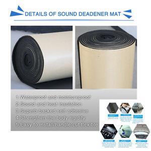 1 Roll Car 10mm Soundproof Insulation Foam Waterproof Cuttable Flat Panel Mat