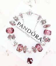 Authentic Pandora Bracelet Silver Bangle with Glow in the Dark European Charms