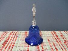 Avon Moonwind Cologne Blue Glass Bell - Empty