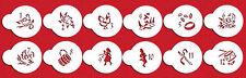 12 Days of Christmas Cookie Top Stencil by Designer Stencils #C200