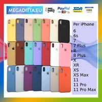 Cover Custodia In Silicone Originale Soft Per Apple iPhone 6 6s 7 8 X Xs 11 Max