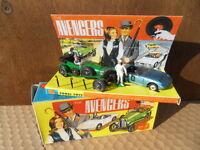 Corgi gift set 40 the avengers vintage toys bentley lotus elan J STEED E PEEL