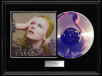 DAVID BOWIE HUNKY DORY ALBUM FRAMED LP WHITE GOLD SILVER PLATINUM TONE RECORD