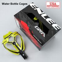 ENLEE MTB Bike Drink Water Bottle Cage Holder Plastic Glass Fiber Double Colors