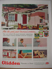 1957 Glidden Paints Wall Coverings Tomorrow's Perfection Vintage Print Ad 10235