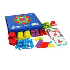 Children IQ Pattern Puzzle Box Wooden Blocks Montessori Kids Toys