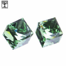 NEW Fashion Men's Women's Icy Crystal 3D Cube Silver Push Back Post Earrings GR
