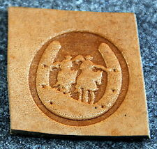 Cowboys in Horseshoe Leather Tooling Embossing / Clicker Stamp, Delrin, NEW #023