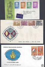 INDONESIA 1960's 1980's COLLECTION OF 12 FDCs WITH CACHETS
