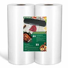 "New listing 2 Pack Vacuum Sealer Bags Food Grade Material 8""x50 Feet Rolls For Food Saver"