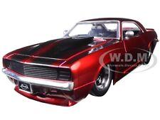 1969 CHEVROLET CAMARO RED 1/24 DIECAST MODEL CAR BY JADA 97402