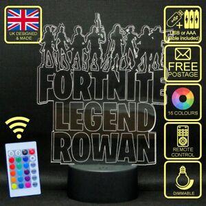 Personalised Fortnite Legend Kids LED Gaming Lamp