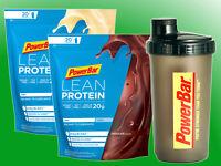 (32,99€/kg) PowerBar Lean Protein - 2 x 500g Beutel + Shaker Molkeneiweiß Casein