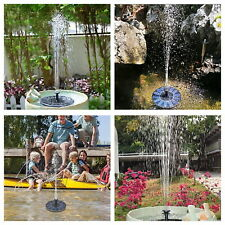 Solar Powered Floating Water Fountain Pump Garden Pond Pool Patio 1.2w/1.4w/2.5w