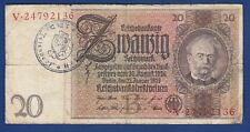 20 Mark 1929. Reichsmark Germany banknotes, Nazi Waffen SS division Totenkop !