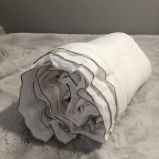 Restoration Hardware Italian Ultra Fine Tipped Linen Cal King Duvet, White/Dune