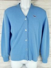 Vintage 1960s Womens Blue Lacoste Haymaker Cardigan Sweater EU 38 US  8 Medium e5091f811