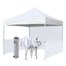 Easy10x10 White EZ Pop Up Canopy Commercial Vendor Gazebo Trade Show Booth Tent