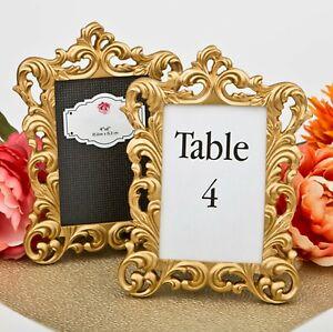 Gold Baroque 4x6 Photo Frame Table Number Holder Wedding Decor MW70030