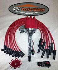 small cap AMC JEEP 290,304,343,360,390,401 RED HEI Distributor + 8MM Plug Wires