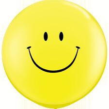 "36"" Yellow Smiley Printed Latex Balloons Emoji Face Smile Birthday Party Baloons"