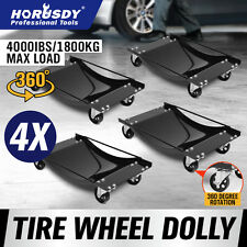 4x Wheel Dolly Vehicle Positioning Jack Car Mover Transporter Trolley Heavy Duty
