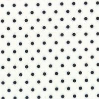 Me & My Sister Moda - Dotted Swiss Black on White 22167 31 - Half Yard Fabric