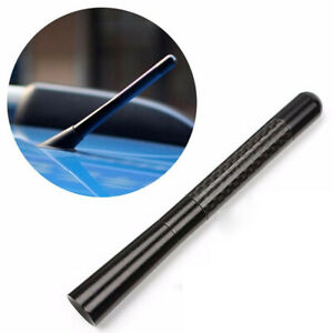 "4.7"" Universal Black Real Carbon Fiber Car Antenna Radio FM Antena Kit+Screw"