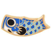 Karikatur Fisch Flagge Karpfen Brosche Japanischen Koi Weichen Emaille Pin P