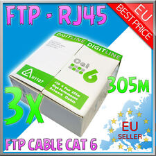 Cavo di Rete - FTP LAN Cable Cat 6 - RJ45 + matassa 915mt + GLS - AWG 23 - 3 pc