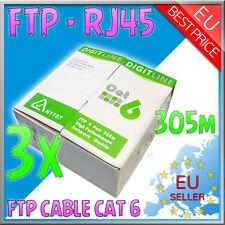 Cavo di Rete - FTP LAN Cable Cat 6 - RJ45 + matassa 915mt + GLS - AWG 23 - 3 pc