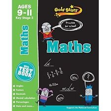 Gold star Maths age 9-11 KS2 for practice with test book