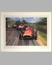 Fangio - The Maestro print by Nicholas Watts, Autographed by Fangio