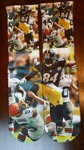 Custom Antonio Brown Steelers dry Fit socks gamma laney X XII Fighter bred