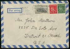 Mayfairstamps Finland Commercial 1948 Cover To Detroit Mi Usa wwk40895