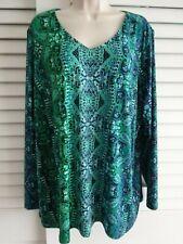 Linea Louis Dell/'Olio Island Floral Maxi Dress Blue Green M NEW A308469