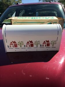 """""""Vintage Rural Mailbox"""" Steel City Corp U.S. Mail Dairy Amish painted decal usa"""