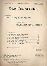 VECCHI MOBILI alta voce foglio CLAUDE Arundale VINTAGE PUB. 1915