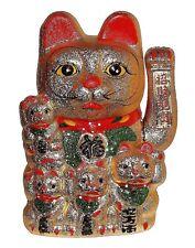 Maneki Neko japanischer Glücksbringer Winkekatze Glückskatze Glück Kult Groß NEU