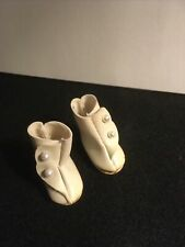 New ListingMadame Alexander Off White Faux Leather Hightop Shoes With White Pearls